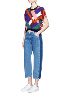 Emilio Pucci 'Parioli' geometric print silk blend top