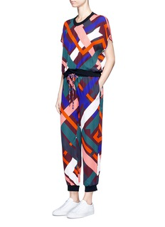 Emilio Pucci 'Parioli' geometric print silk blend pants