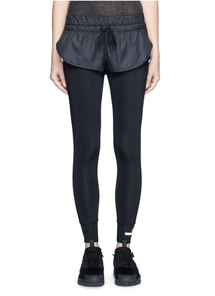Main View - Click To Enlarge - Adidas By Stella Mccartney - 'The Short Tight' layered leggings