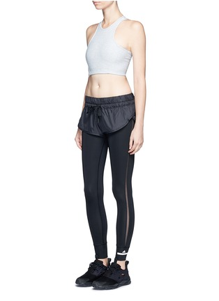Figure View - Click To Enlarge - Adidas By Stella Mccartney - 'The Short Tight' layered leggings