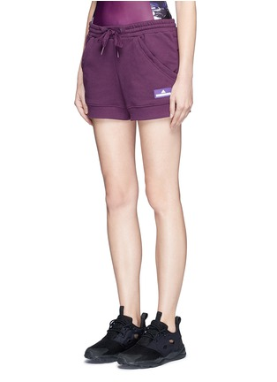 Front View - Click To Enlarge - Adidas By Stella Mccartney - 'Essentials' French terry shorts