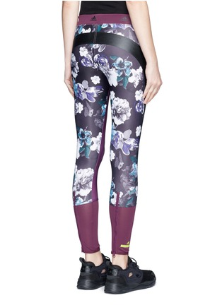 Back View - Click To Enlarge - Adidas By Stella Mccartney - 'Techfit' floral print performance leggings