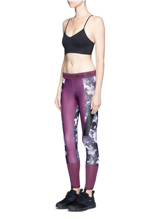Figure View - Click To Enlarge - Adidas By Stella Mccartney - 'Techfit' floral print performance leggings