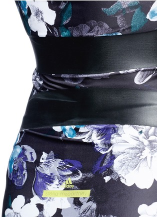 Detail View - Click To Enlarge - Adidas By Stella Mccartney - 'Techfit' floral print performance T-shirt