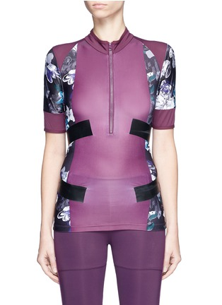 Main View - Click To Enlarge - Adidas By Stella Mccartney - 'Techfit' floral print performance T-shirt