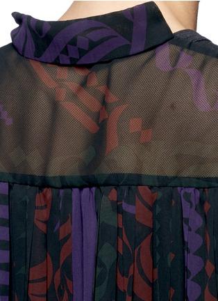 细节 - 点击放大 - SACAI - 百褶薄纱拼接T恤
