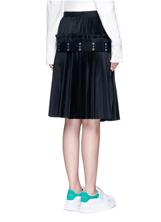 Back View - Click To Enlarge - Sacai - Belted plissé pleat skirt