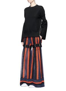 SacaiSide zip cinched sleeve sweatshirt