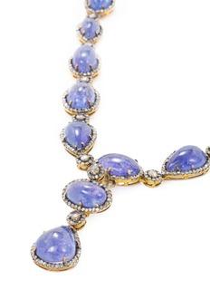 Aishwarya Diamond tanzanite gold alloy necklace