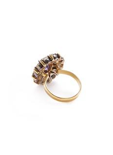 Aishwarya Diamond tanzanite gold alloy scalloped ring