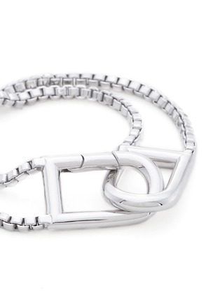 Detail View - Click To Enlarge - Eddie Borgo - 'Allure' padlock clip box chain bracelet