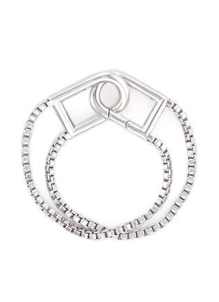 Eddie Borgo-'Allure' padlock clip box chain bracelet