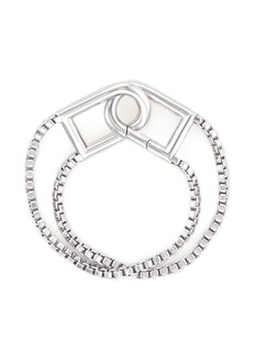 Eddie Borgo'Allure' padlock clip box chain bracelet