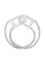 'Allure' padlock clip box chain bracelet