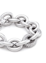Crystal pavé link chain bracelet