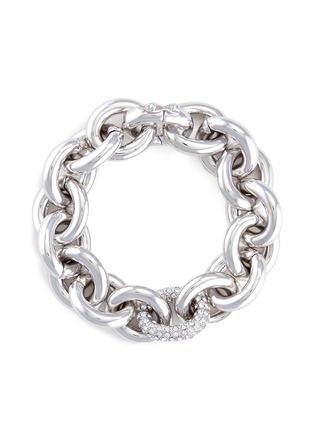 Main View - Click To Enlarge - Eddie Borgo - Crystal pavé link chain bracelet