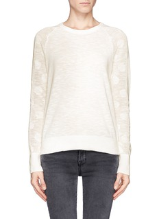 EQUIPMENT 'Sloane Crew' mesh open knit sleeve sweater