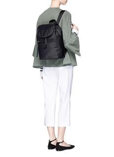 Tory BurchLeather trim nylon backpack
