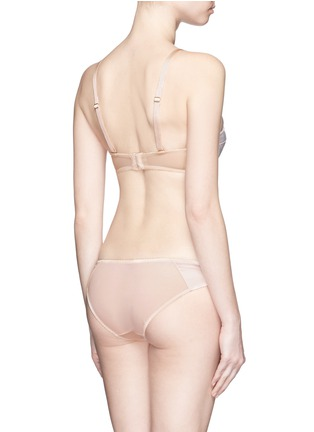 Back View - Click To Enlarge - L'Agent - 'Penelope' padded satin tulle strapless bra