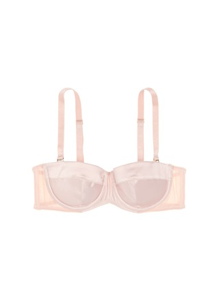 Main View - Click To Enlarge - L'Agent - 'Penelope' padded satin tulle strapless bra