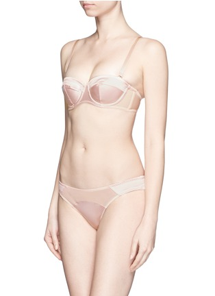 Figure View - Click To Enlarge - L'Agent - 'Penelope' padded satin tulle strapless bra