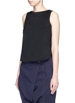 Front View - Click To Enlarge - Song for the Mute - Wool-silk sleeveless top
