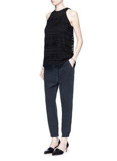 VINCECrossover front dropped crotch silk pants