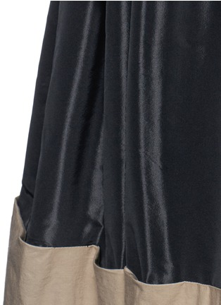 Detail View - Click To Enlarge - Tome - Taffeta paperbag waist cotton combo maxi skirt