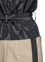 Taffeta paperbag waist cotton wide leg pants