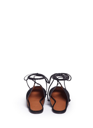 Back View - Click To Enlarge - Rosetta Getty - Lace-up suede mules