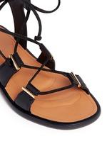 Crisscross lace-up leather sandals