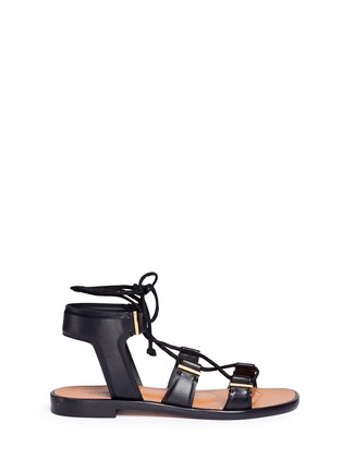 Main View - Click To Enlarge - Rosetta Getty - Crisscross lace-up leather sandals