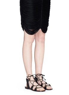 ROSETTA GETTYCrisscross lace-up leather sandals