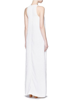 Back View - Click To Enlarge - Rosetta Getty - Satin panel split front cloqué gown