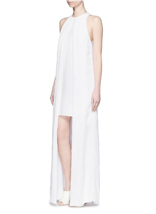 Figure View - Click To Enlarge - Rosetta Getty - Satin panel split front cloqué gown