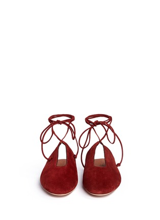 Rosetta Getty - Lace-up suede mules