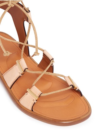 Detail View - Click To Enlarge - Rosetta Getty - Crisscross lace-up leather sandals