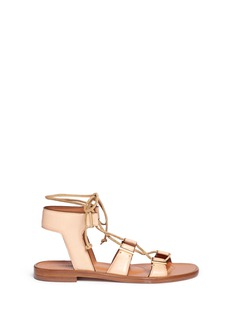 ROSETTA GETTY Crisscross lace-up leather sandals
