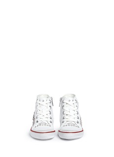 ASH 'Flash' rhinestone stud leather toddler sneakers
