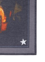 Rottweiler print cotton-silk scarf