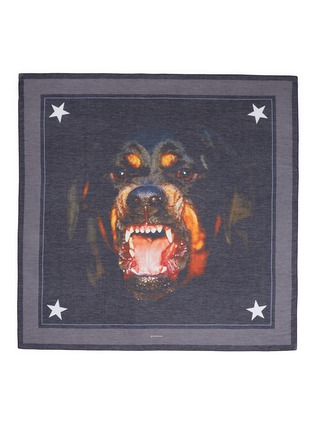 Givenchy - Rottweiler print cotton-silk scarf