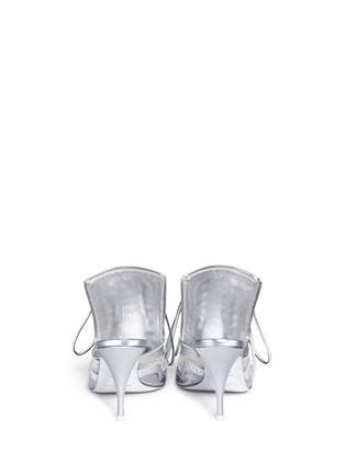 Givenchy - 'Show' decorative lace-up metallic leather mules