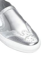 'Skate Basse New' brogue detail metallic leather slip-ons