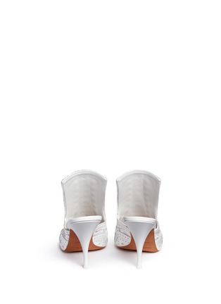 Back View - Click To Enlarge - Givenchy - 'Show' decorative lace-up leather mules