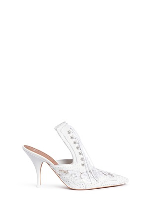 Main View - Click To Enlarge - Givenchy - 'Show' decorative lace-up leather mules
