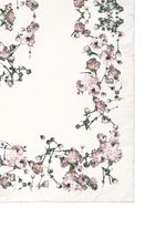 Baby's breath floral print silk scarf