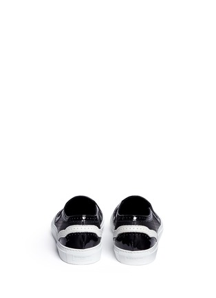Back View - Click To Enlarge - Givenchy - Contrast brogue leather skate slip-ons