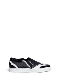Givenchy Contrast brogue leather skate slip-ons
