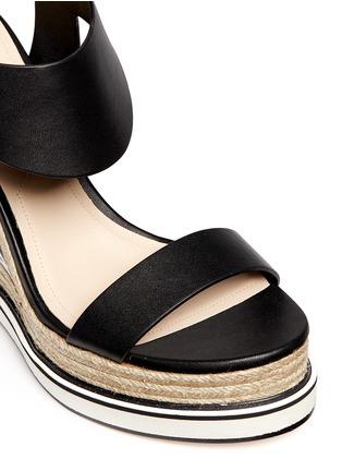 Detail View - Click To Enlarge - Nicholas Kirkwood - Star heel espadrille wedge sandals