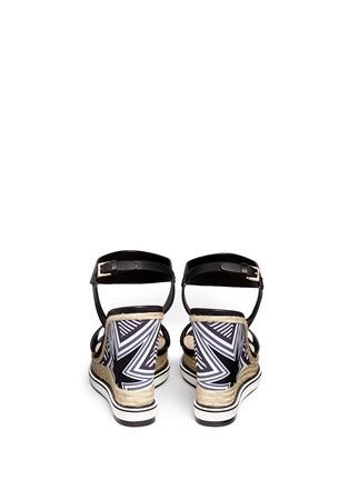 Back View - Click To Enlarge - Nicholas Kirkwood - Star heel espadrille wedge sandals